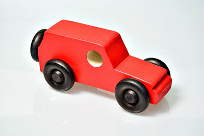 wooden car made in Woodshop Image